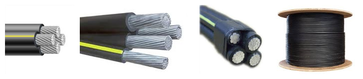 aluminum direct burial wire structure