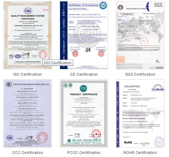 Huadong certifications of produce mv abc
